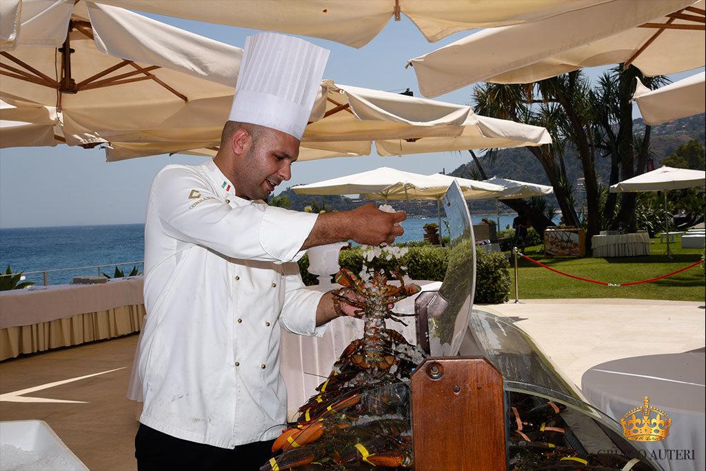 auteri show cooking banco aragoste