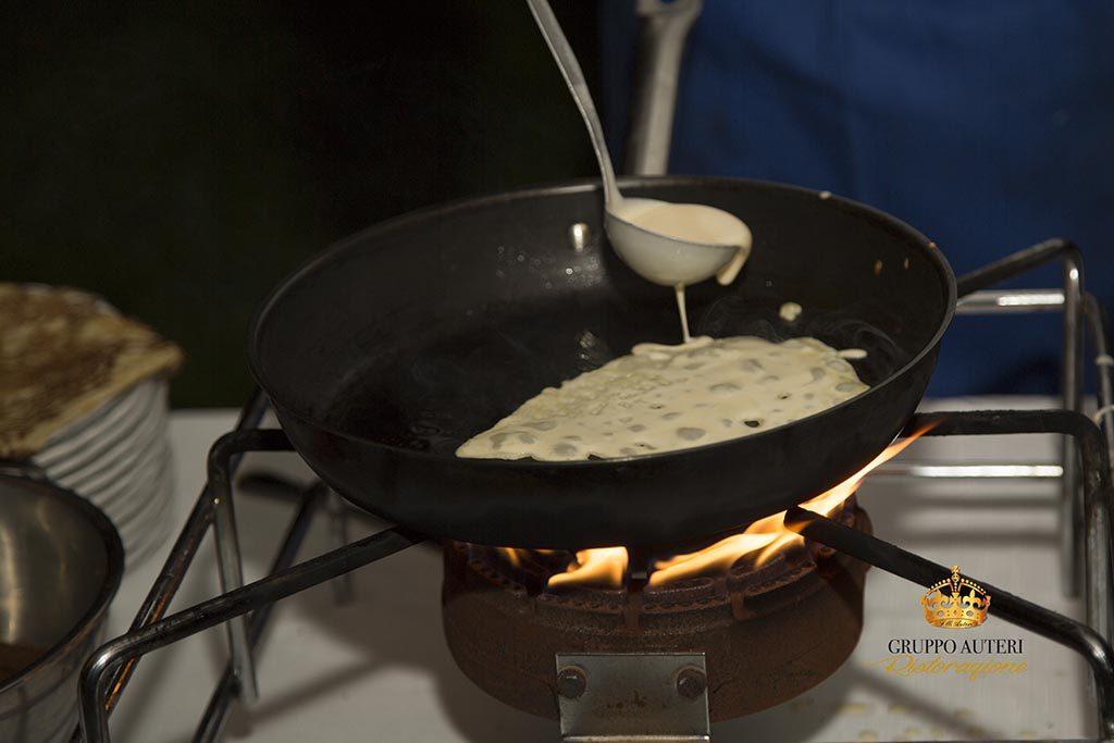 auteri show cooking crepes fuoco