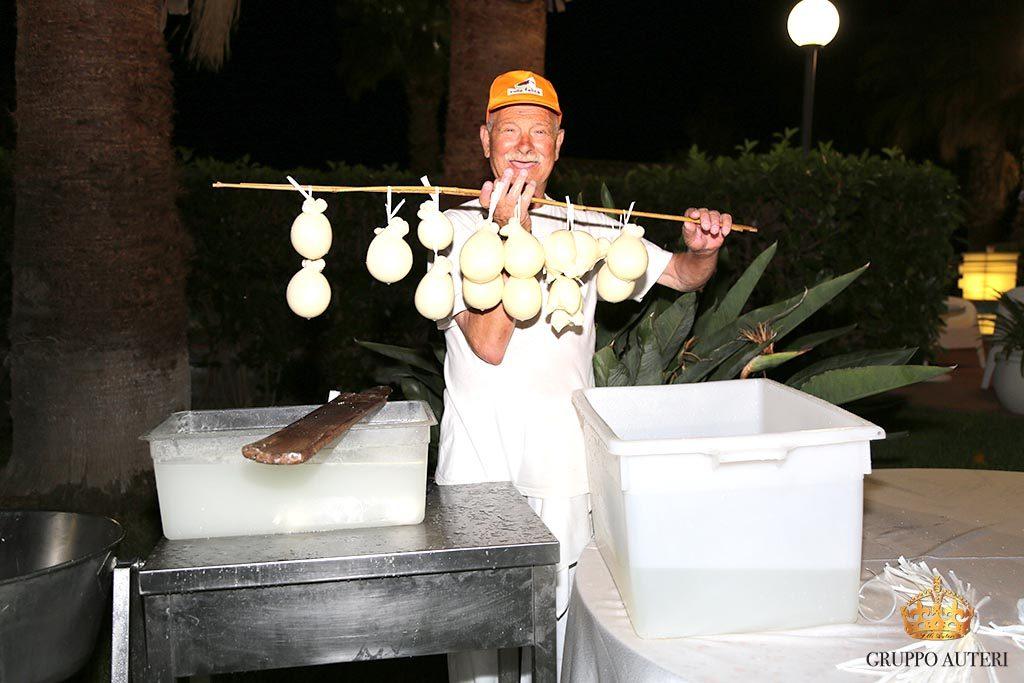 auteri show cooking mozzarelle