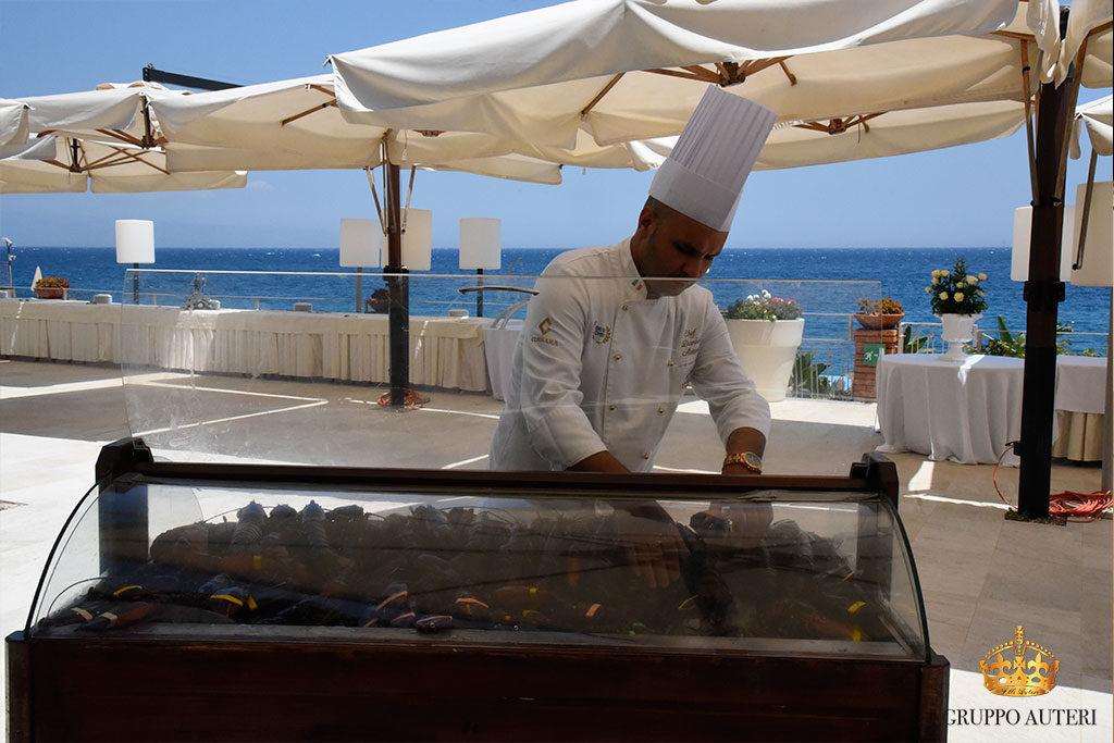 catering allestimenti banco pesce
