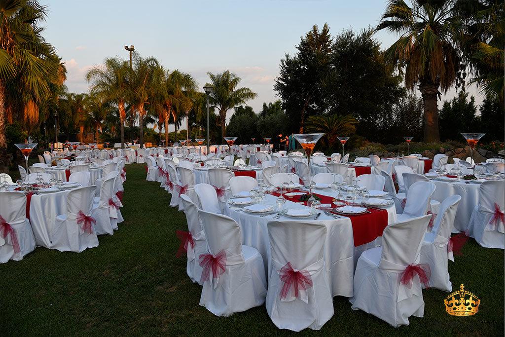 catering allestimenti tavolo rosso