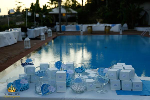 battesimo confetti piscina