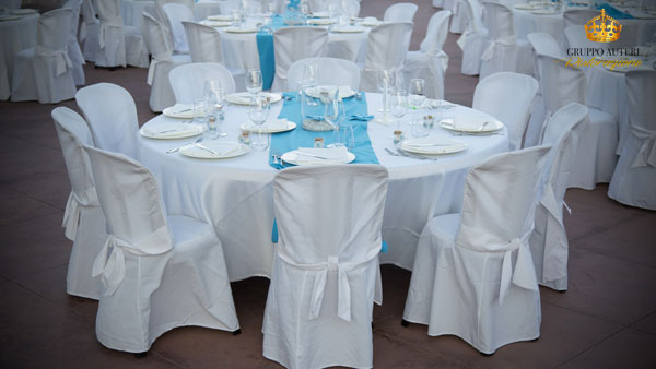battesimo tavolo azzurro