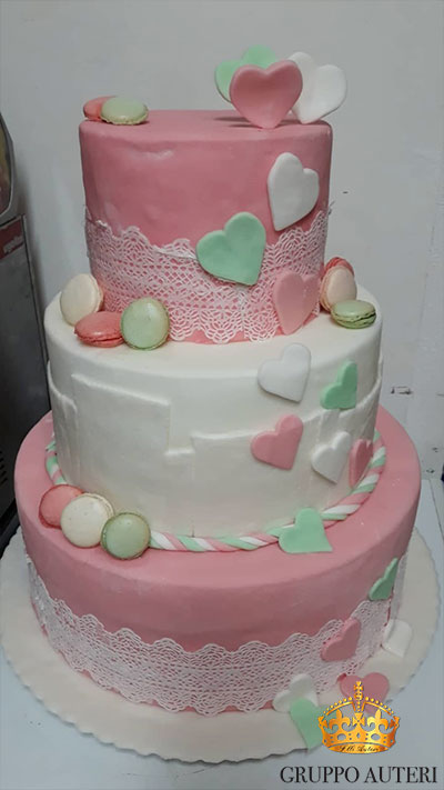 auteri torte cuori rosa