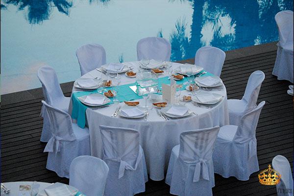 villa carlino tavolo azzurro